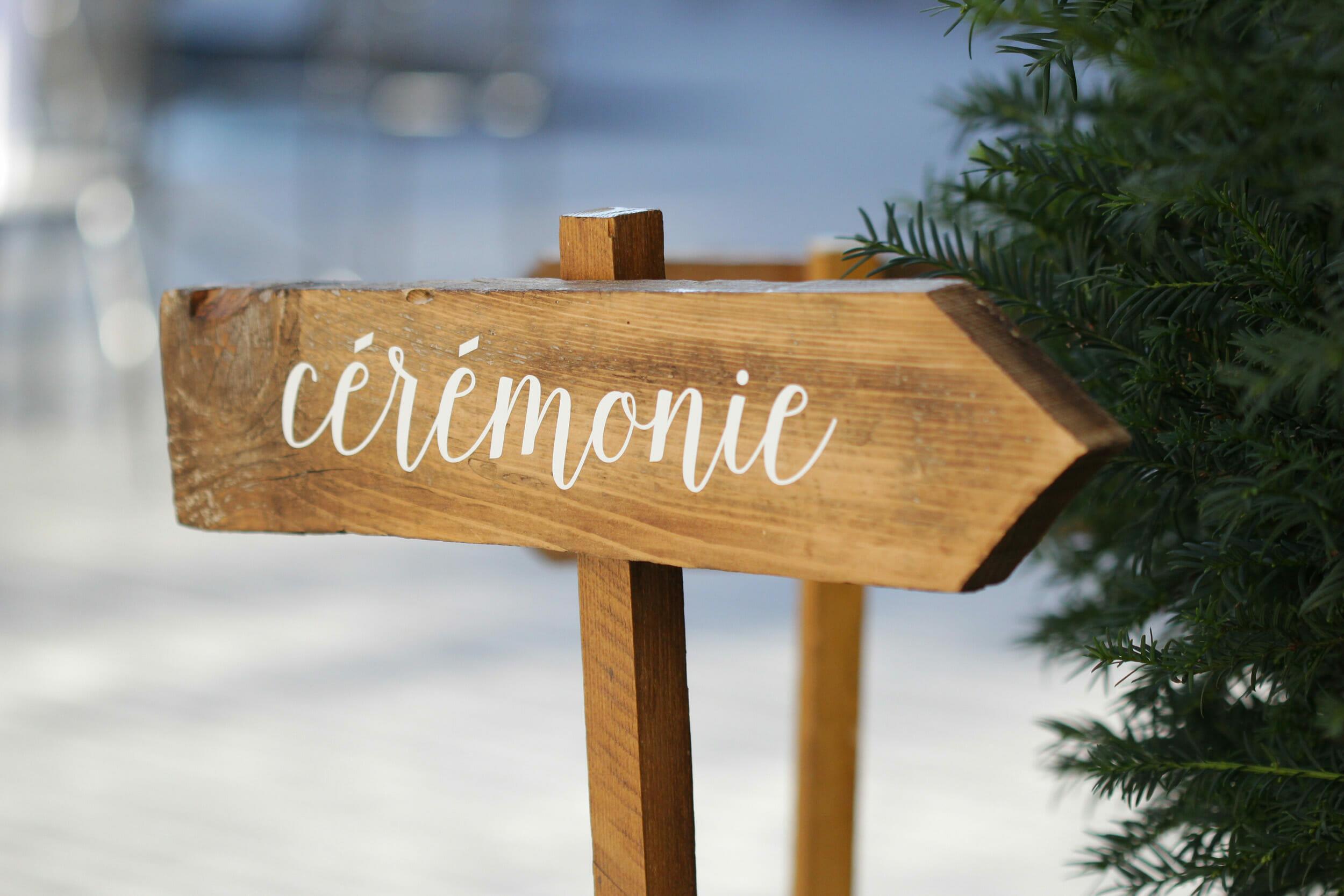 Cérémonie de mariage à Annecy