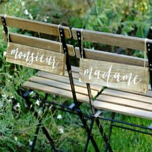 Chaises des mariés à Annecy