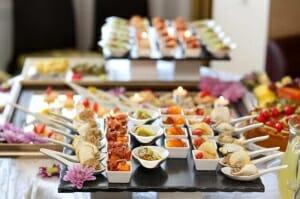 Réception avec buffet